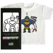 Camiseta + 12 rotus 'Super Friends'